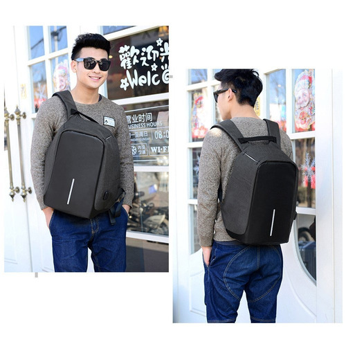mochila antirrobo morral laptop notebook usb mac 15,6'
