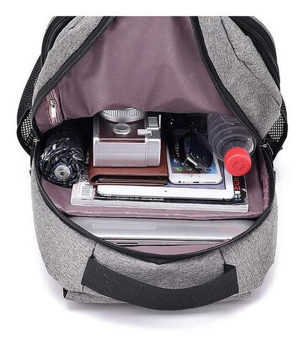 mochila antirrobo notebook smart celular tablet carga usb