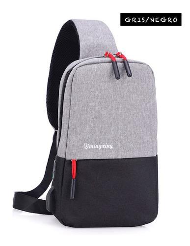 mochila antirrobo pechera carga usb impermeable