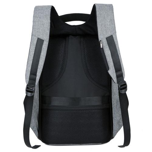 mochila antirrobo smart bag carga usb notebook tablet resist