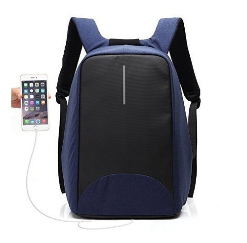mochila antirrobo smart usb celular notebook. impermeable