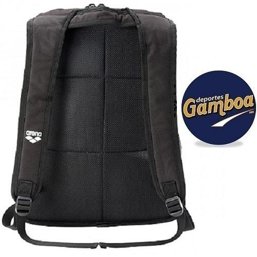 mochila arena fastpack core negro-turquesa + !envío gratis¡