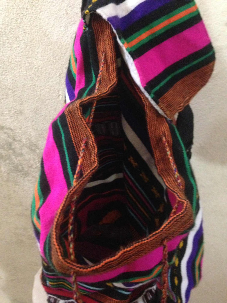 mochila artesanal importada peru bordado bolsos externo. Carregando zoom. 4611cff9644