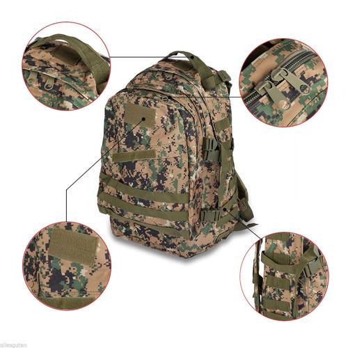 mochila assalt tático ak-40 l floresta digital modular molle