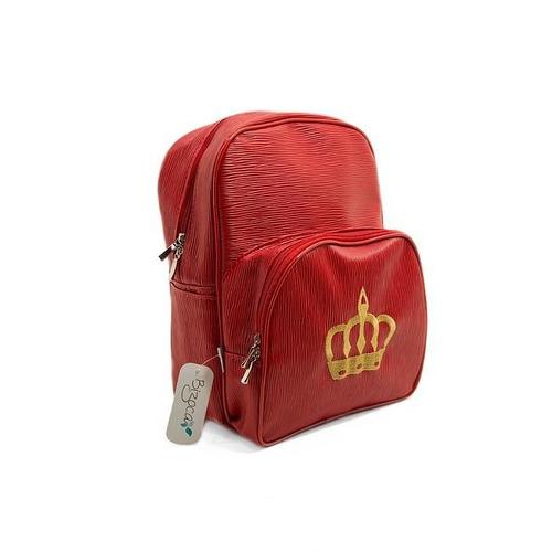 mochila baby  - vermelho texturizado