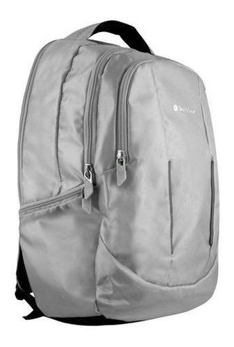 mochila backpack 15.6 ergonomico gris techzone laptop pc