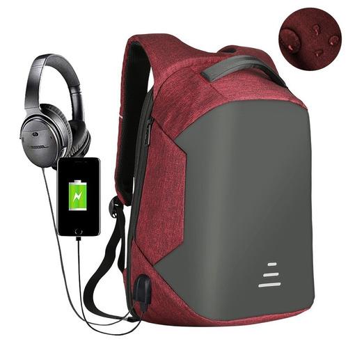 mochila backpack antirobo impermeable usb powerbank laptop m