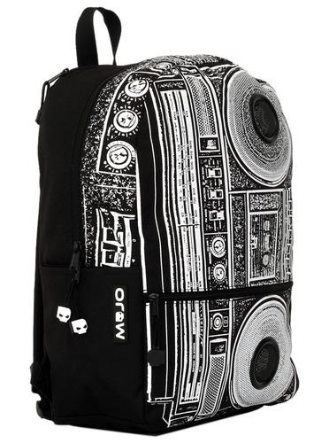 mochila backpack boombox masta blasta con bocinas resistente