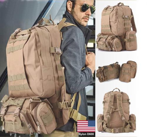 mochila backpack táctica militar 55l molle campismo impermea