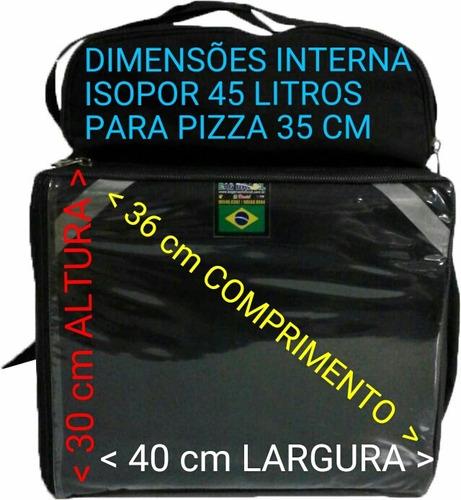 mochila bag aplicativo entregas deliverys isopor laminado