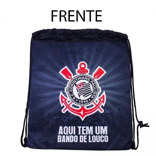 Mochila Bag Saco Leve Pratica Futebol Esporte - Corinthians - R  20 ... 83df3134f0edb