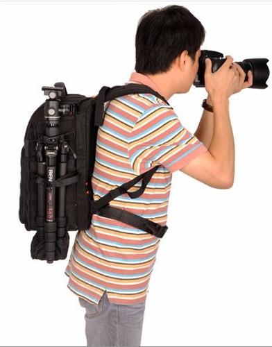 mochila benro beyond b100 p/ camara lentes flash tripode