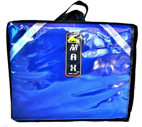 mochila bolsa bag de pizza azul térmica c/ isopor max racing