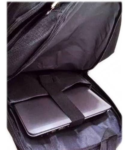mochila bolsa cabo aço reforçada impermeável usb/p2 + cabo
