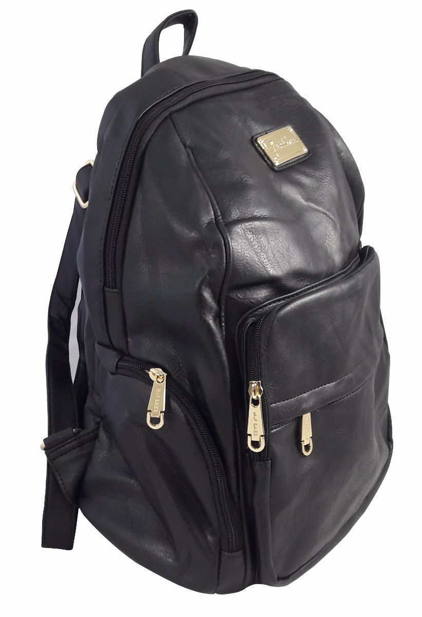 b0a5f2237 mochila bolsa couro feminina escolar faculdade fashion preta. Carregando  zoom.