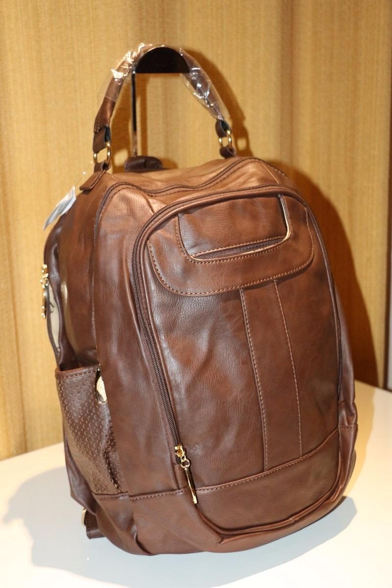 9bd8ee8d2 mochila bolsa couro sintético feminina, escola, trabalho. Carregando zoom.