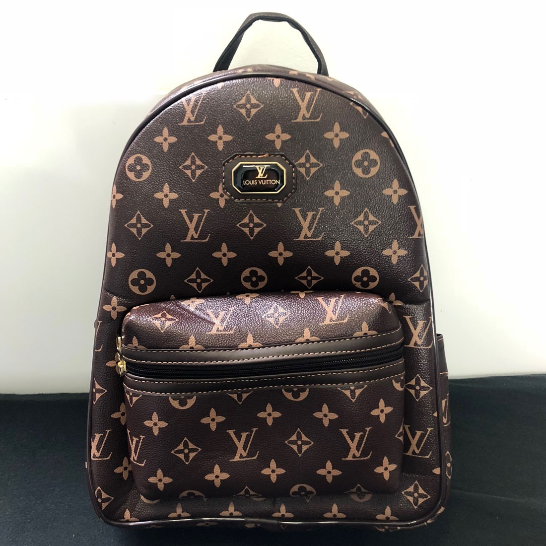 93d804134 mochila bolsa de couro unissex escolar média louis vuitton. Carregando zoom.