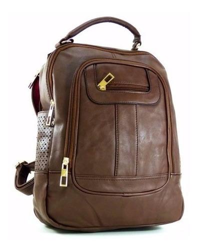 mochila bolsa em couro sintético pequena feminina coloridas