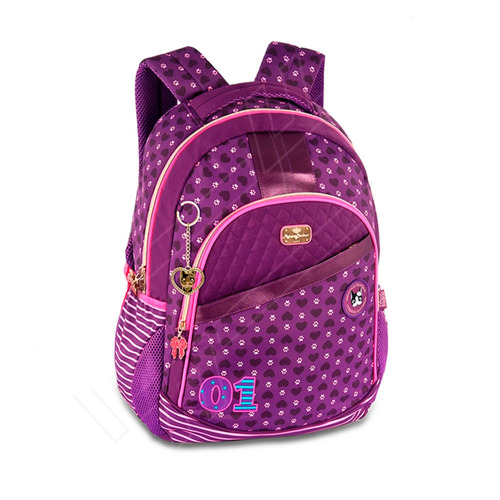 Bolsa Escolar Feminina Infantil : Mochila bolsa escolar feminina juvenil infantil roxa