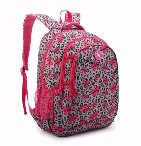 mochila bolsa escolar feminino original trabalho reforçada