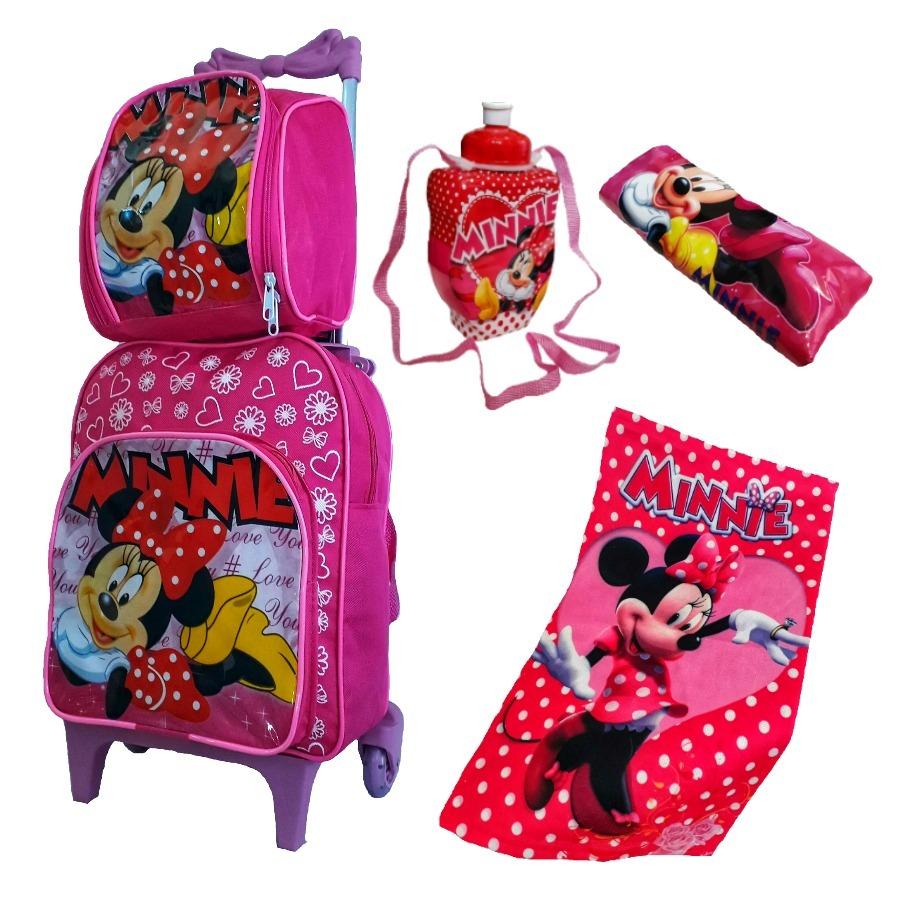 36c2a8a35 mochila bolsa escolar infantil minie com rodinha barato kit. Carregando  zoom.