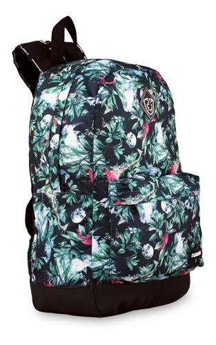 mochila bolsa escolar viagem mala floral verde everbags