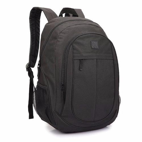 mochila bolsa escolar viagem trabalho liso masculino denlex