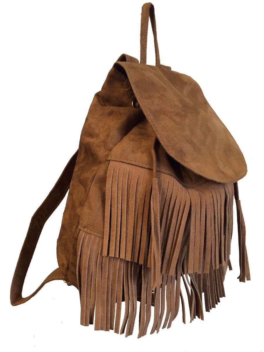 a748d845e mochila bolsa feminina camurça com franjas promoção + brinde. Carregando  zoom.