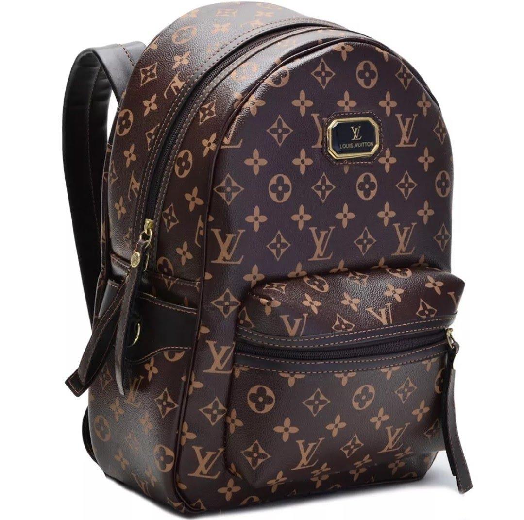 65820cfcc mochila bolsa feminina couro sintético trabalho escola. Carregando zoom.