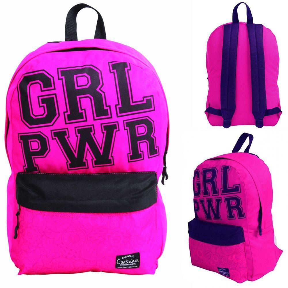 dc5a6a98ff mochila bolsa feminina escolar rosa com bolso na frente nota. Carregando  zoom.