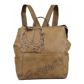 Mochila Bolsa Feminina Garfield Gf1802 Marrom Claro