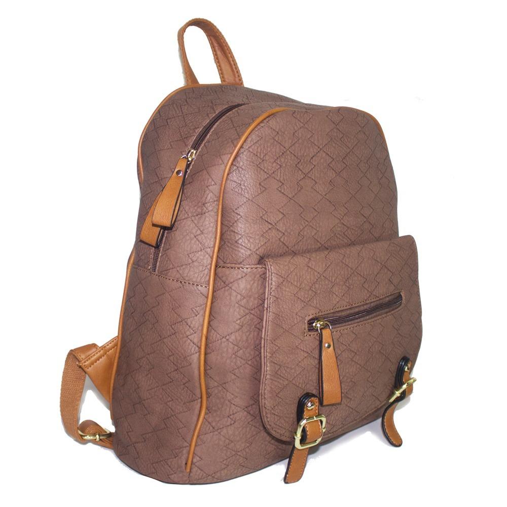 mochila bolsa feminina passeio escola trabalho pedraria. Carregando zoom. c85b5ff28f4