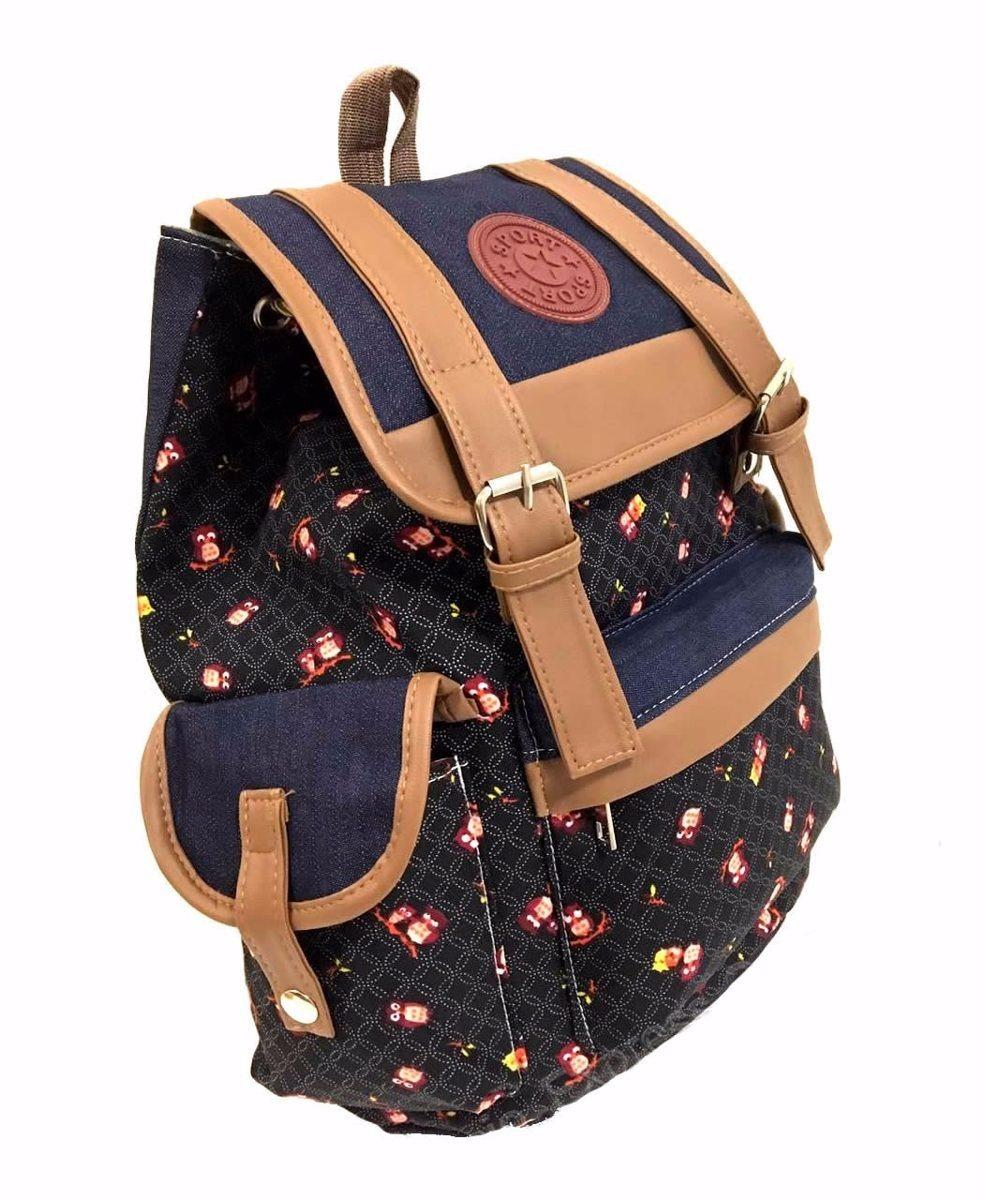 1eea8eb8e mochila bolsa feminino juvenil universitária corujinhas nova. Carregando  zoom.