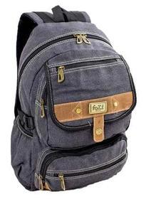 0be19de82 Bolsa Mochila Casual Masculino Em Canvas - Calçados, Roupas e Bolsas no  Mercado Livre Brasil