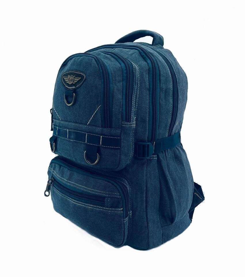 db56ac391 mochila bolsa lona jeans escolar trabalho moda militar. Carregando zoom.