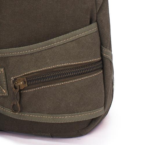 mochila bolsa lona masculina feminina kvn 1 alça transversal