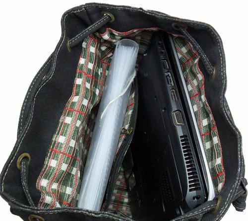 mochila bolsa lona resistente moderna masculina feminina g85