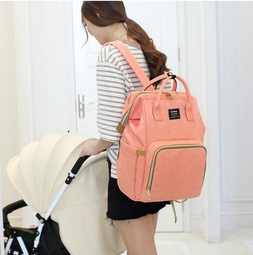 mochila bolsa maternidade bebê nenem mamadeira fralda top