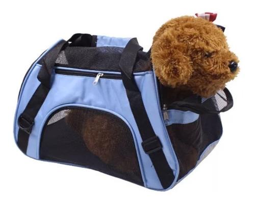 mochila bolsa med. transportadora mascota perro gato avion