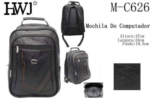 mochila bolsa notebook impermeável de couro sintético oferta