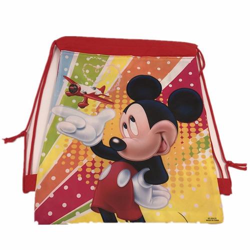 mochila bolsa para aniversário mickey  20 com frete
