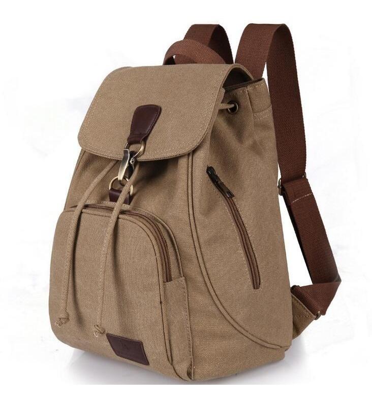 mochila bolsa para mujer dama elegante de lona algodon