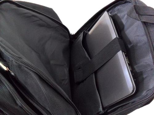 mochila bolsa reforçada notebook grande cores cabo de aço