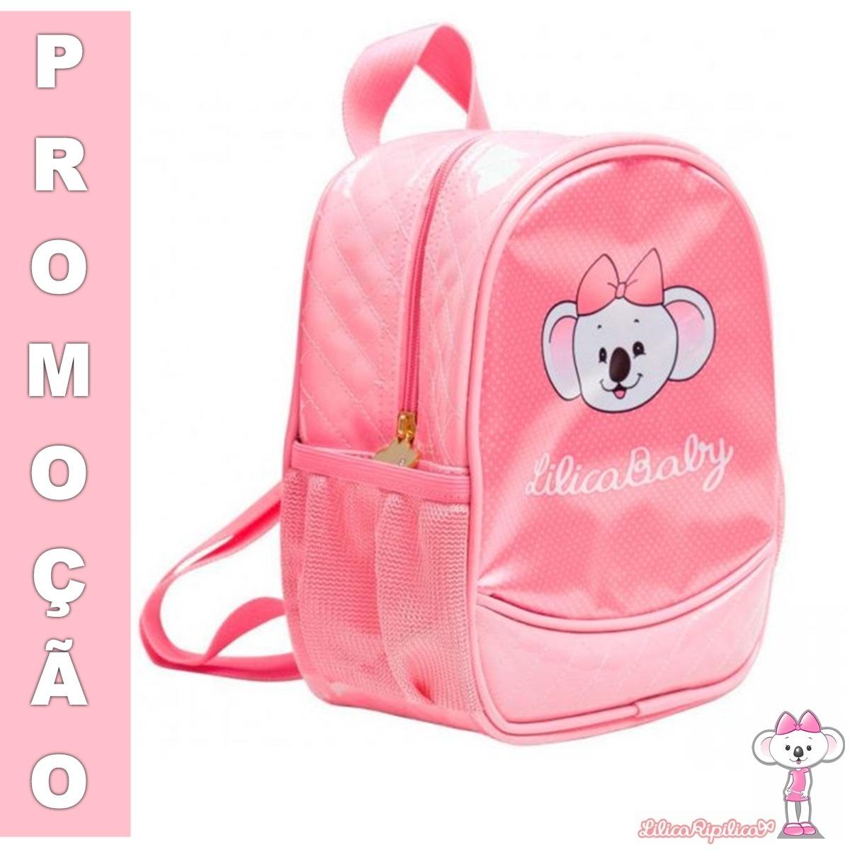 97d89ca180ac4 mochila bolsas malas infantil rosa lilica ripilica original,. Carregando  zoom.