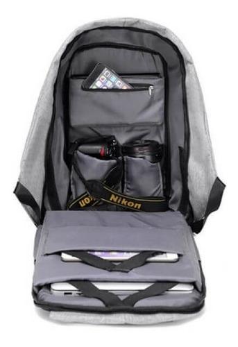 mochila bolso antirrobo seguridad ajustable acolchado