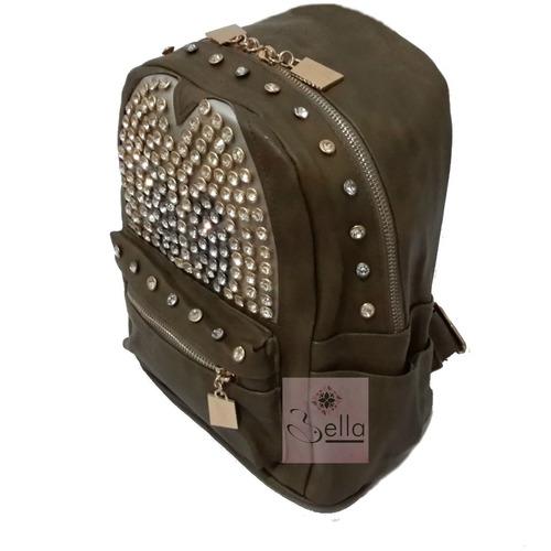mochila bolso dama con pedrería moda estilo europeo