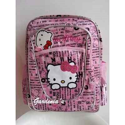 mochila bolso hello kitty sanrio viaje univers  playa coleg