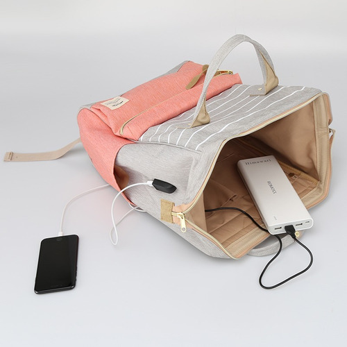 mochila bolso himawari con usb ideal porta notebook
