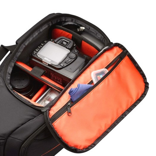 mochila bolso impermeable p/ camara reflex case logic dcb308