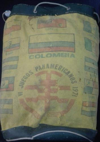 mochila bolso maleta antigua 1971 juegos panamericanos